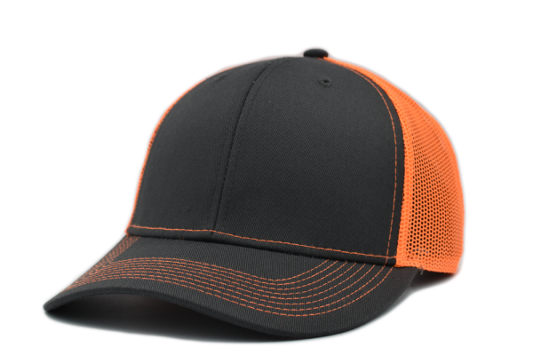Dark Gray Neon Orange